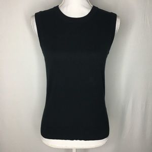 J. Crew Jackie shell tank sweater vest solid black